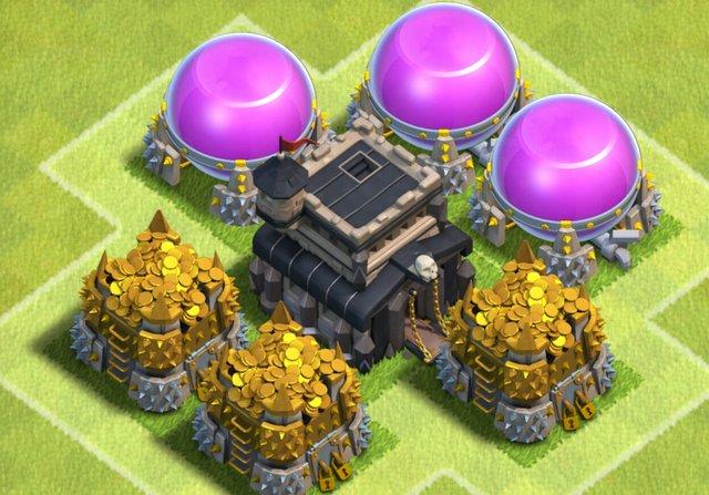 clash of clans gold elixir farming